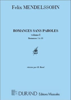 MENDELSSOHN - Romances Without Words Volume 1 - Sheet Music - di-arezzo.co.uk