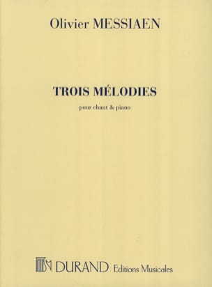 Olivier Messiaen - 3 Mélodies - Partition - di-arezzo.fr