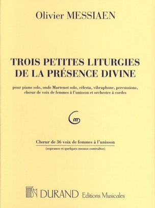 Olivier Messiaen - 3 Small Liturgies .... Choirs - Sheet Music - di-arezzo.com