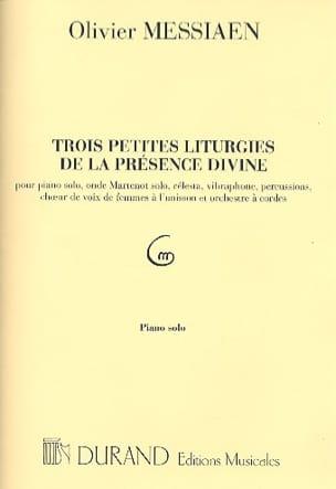 Olivier Messiaen - 3 Petites Liturgies.... Piano Solo - Partition - di-arezzo.fr