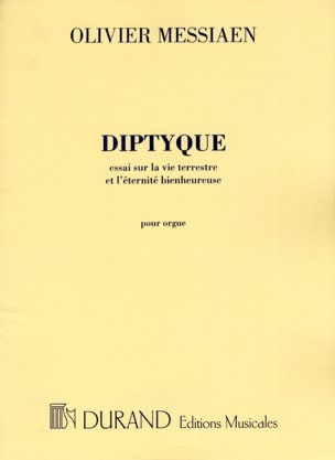 Olivier Messiaen - Diptyque - Partition - di-arezzo.fr
