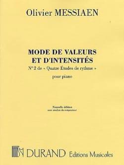 Olivier Messiaen - Mode de Valeurs et D'intensité - Partition - di-arezzo.fr