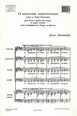 O Sacrum Convivium MESSIAEN Partition Chœur - laflutedepan