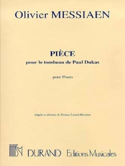 Olivier Messiaen - Piece For the Tomb of Paul Dukas - Sheet Music - di-arezzo.com