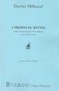 Darius Milhaud - About Boots - Partition - di-arezzo.co.uk