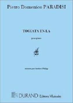 Pietro Domenico Paradies - Toccata En La. - Partition - di-arezzo.fr