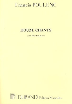 12 Chants POULENC Partition Mélodies - laflutedepan