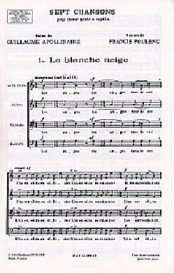 Francis Poulenc - The Snow White - Sheet Music - di-arezzo.co.uk
