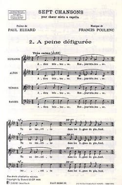 Francis Poulenc - A Distorted Pain - Sheet Music - di-arezzo.co.uk
