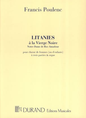 Francis Poulenc - Litanies to the Black Madonna - Sheet Music - di-arezzo.co.uk