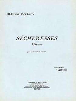 Sécheresses POULENC Partition Chœur - laflutedepan