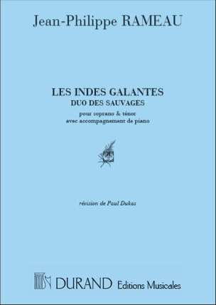 Jean-Philippe Rameau - Duo of the Savages. the gallant Indies. - Sheet Music - di-arezzo.co.uk