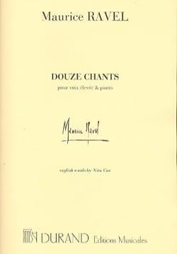Maurice Ravel - 12 Chants. Voix Haute - Partition - di-arezzo.fr