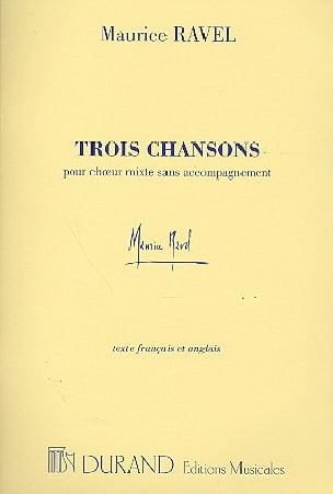 Maurice Ravel - 3 Chansons - Partition - di-arezzo.fr