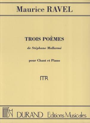 Maurice Ravel - 3 Poèmes de Mallarmé - Partition - di-arezzo.fr