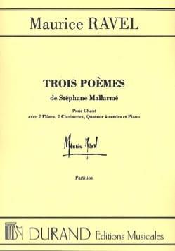 Maurice Ravel - 3 poemas de Mallarmé. equipo - Partitura - di-arezzo.es
