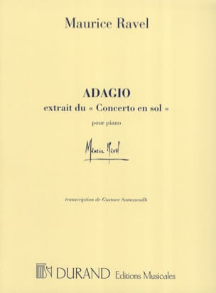 Maurice Ravel - Adagio From The Concerto In Sol - Sheet Music - di-arezzo.com