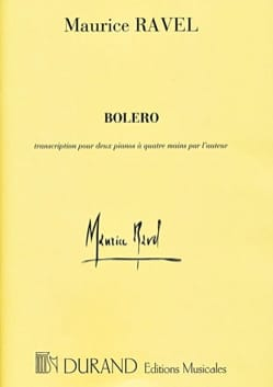 Boléro. 4 Mains Maurice Ravel Partition Piano - laflutedepan