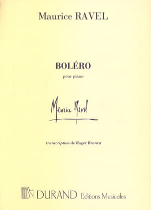 Boléro RAVEL Partition Piano - laflutedepan