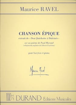 Maurice Ravel - Chanson Epique - Partition - di-arezzo.fr