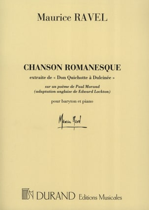Maurice Ravel - Chanson Romanesque - Partition - di-arezzo.fr