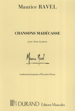 Maurice Ravel - Chansons Madécasses - Partition - di-arezzo.fr