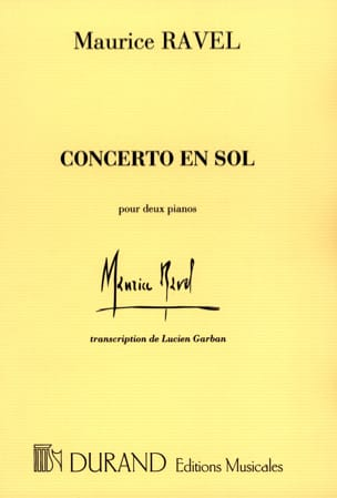 Maurice Ravel - Concerto In Sol - Sheet Music - di-arezzo.co.uk