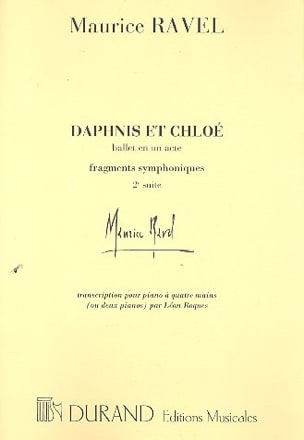 Maurice Ravel - Daphnis and Chloé 2nd Series. 4 mani o 2 pianoforti. - Partitura - di-arezzo.it
