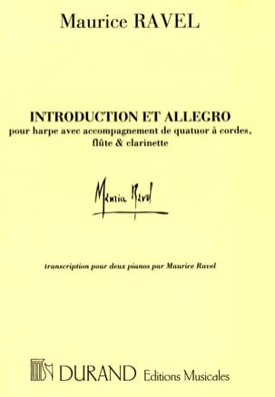 Maurice Ravel - Introduction and Allegro. 2 Pianos - Sheet Music - di-arezzo.co.uk