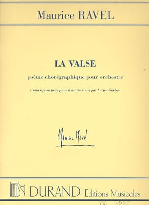 La Valse. 4 mains RAVEL Partition Piano - laflutedepan