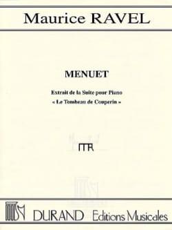 Maurice Ravel - Menuet Du Tombeau de Couperin - Partition - di-arezzo.fr