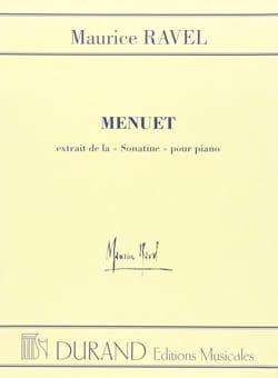 Maurice Ravel - Menuet de la Sonatine - Partition - di-arezzo.fr