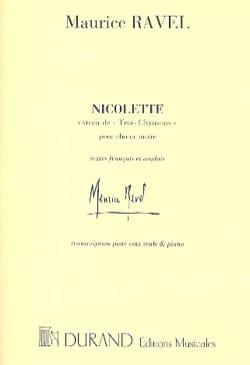 Nicolette - RAVEL - Partition - Mélodies - laflutedepan.com