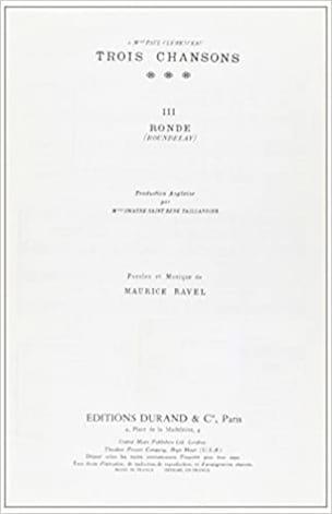 Ronde. - Maurice Ravel - Partition - Mélodies - laflutedepan.com