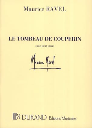 Le Tombeau de Couperin Maurice Ravel Partition Piano - laflutedepan