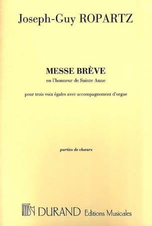 Messe Brève En L'honneur de Ste Anne Guy Ropartz laflutedepan