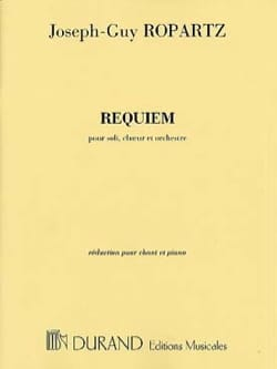 Requiem Guy Ropartz Partition Chœur - laflutedepan