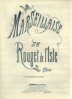 La Marseillaise - de Lisle Rouget - Partition - laflutedepan.com