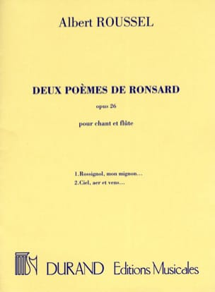 Albert Roussel - 2 Poems by Ronsard Opus 26 - Sheet Music - di-arezzo.co.uk