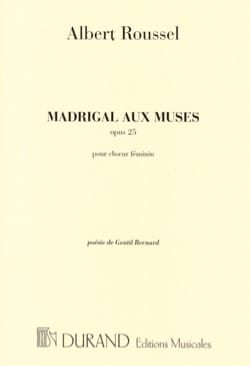 Albert Roussel - Madrigal With Opus 25 Muses - Sheet Music - di-arezzo.co.uk
