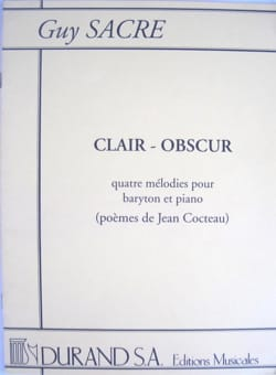 Guy Sacre - Clair-Obscur - Partition - di-arezzo.fr
