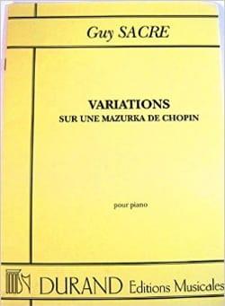 Variation sur une Mazurka de Chopin Guy Sacre Partition laflutedepan