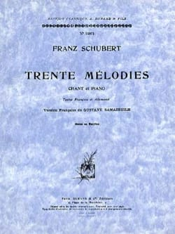 SCHUBERT - 30 Melodies. Mean Voice - Partition - di-arezzo.co.uk