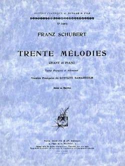 30 Mélodies. Voix Moyenne - Franz Schubert - laflutedepan.com