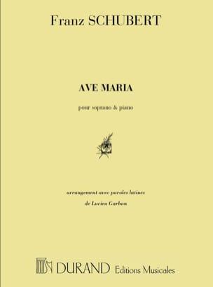 SCHUBERT - Ave Maria Opus 52-6. Voz alta - Partitura - di-arezzo.es