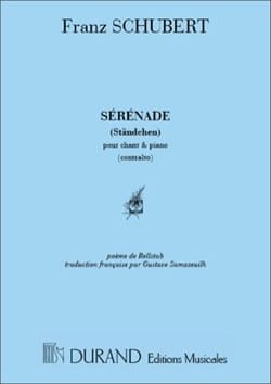 Franz Schubert - Sérénade. Voix Grave - Partition - di-arezzo.fr