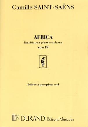 Camille Saint-Saëns - Africa Op. 89. Piano Seul - Partition - di-arezzo.fr