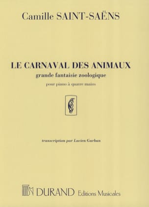 Camille Saint-Saëns - Carnival of the Animals. 4 hands - Sheet Music - di-arezzo.co.uk
