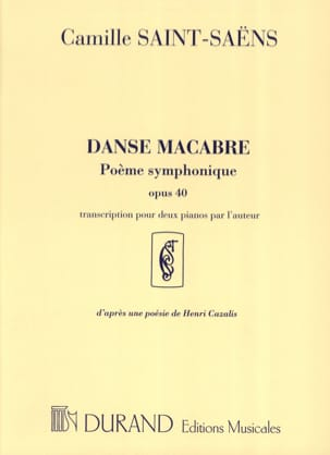 Camille Saint-Saëns - Dance Macabre Opus 40. 2 Pianos - Sheet Music - di-arezzo.co.uk