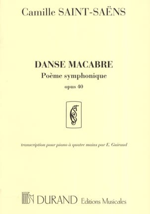 Camille Saint-Saëns - Dance Macabre Opus 40. 4 Hands - Sheet Music - di-arezzo.co.uk